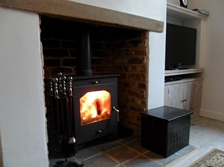 Lounge with stove