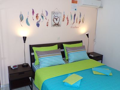 Photo for Cozy Place: 4,5km to Center, 2Bdr Apt, 92m², TV, WiFi, A/C, Garden, Parking