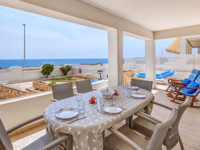 Photo for Air-Conditioned Holiday Home with Balcony, Terrace, Sea View & Wi-Fi
