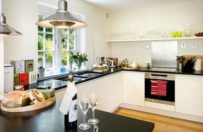 Ground floor: Kitchen leading to large dining room