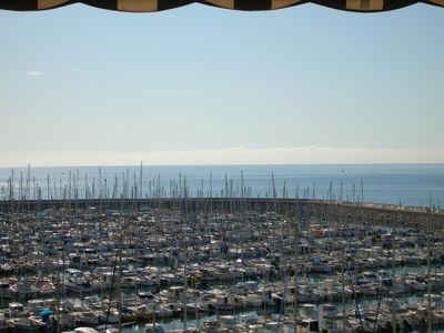 Photo for Apartment standing, 180 ° view of Sète in Port Camargue 4 people, 2 bedrooms