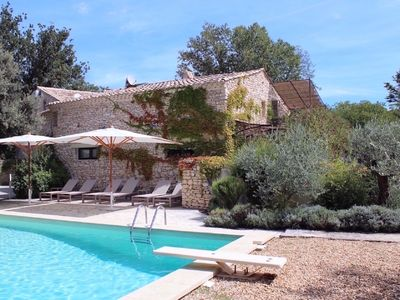 "Photo for House / Gite ""Stable"" in Gordes in the Luberon - swimming pool"