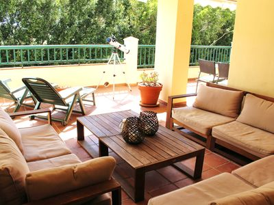Photo for Torrequebrada golf apartm. with large sunny terrace. Wifi,Cable & UK TV,Netflix