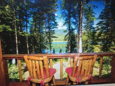 Photo for Log Cabin On Pristine Lake 10 Miles From Glacier Park