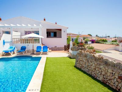 Photo for Cheerful and welcoming villa with 3 bedrooms and private pool in Cala en Porter