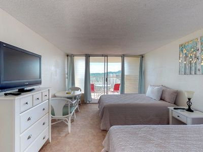 Photo for Oceanview retreat with shared sauna, community pool, and bubbling hot tub