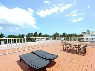 Photo for Huge 4 bedroom, 2 Bath Penthouse Condo Across From Beach On Ocean Drive