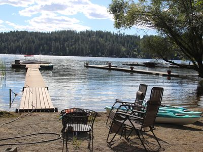 Photo for Lake Front Amazing Custom Log Home Private Beach & Dock