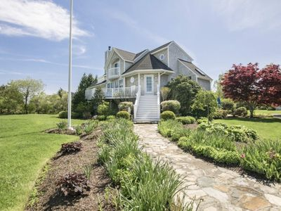 Photo for Luxury Charlestown Home with Water Views and Game Room, 5 minutes to East Beach!