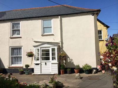 Photo for Character cottage in friendly village on the Somerset coast, close to Exmoor.