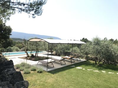 Photo for Provencal Mazet with a view overlooking the Luberon in the heart of Provence swimming pool