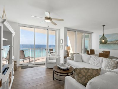 Photo for 1102  - 3 Bedroom 3 Bath. Living Room and Master Bedroom Face the Gulf!