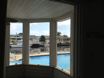 View of pool from private Gazeebo