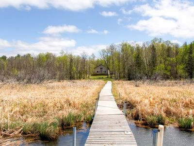 Photo for Rustically Refined 3BR Nevis Cabin w/ Private Dock