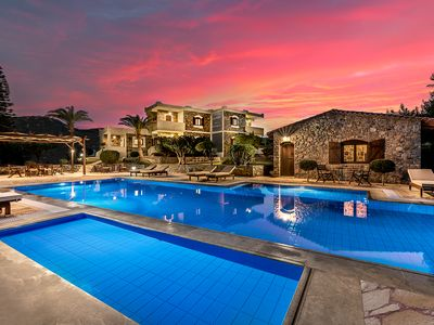 Photo for Sitia luxury furnished and decorated villa by the sea-watered pool