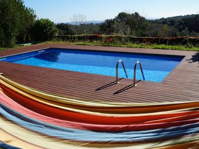 Photo for Costabravaforrent Casa Rosa, home to 12 private pool, garden and barbecue
