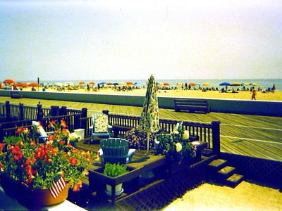 Photo for Affordable OCEAN FRONT Apartment -Sunny Boardwalk Deck