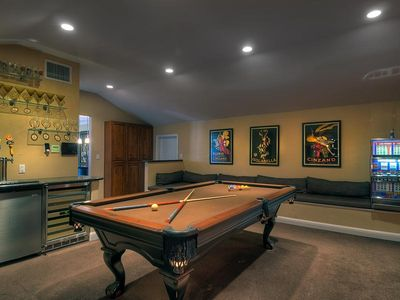 Game Room with Pool Table and Kegerator