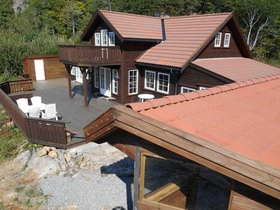 Photo for Holiday cottage in Southern Norway with jacuzzi and sauna for 10 persons