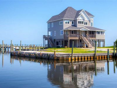 Photo for Custom Designed Soundfront Home w/Hot Tub, Private Boardwalk, Boat Slips, Grill