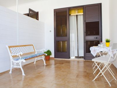 Photo for Renovated two-room apartment with outdoor space, Torre Lapillo beach