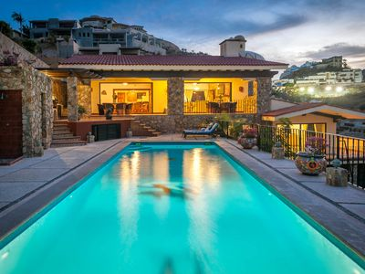 Photo for Ocean View 6 BR Villa Golden Dome Features In-Home Gym, Pool & Charcoal BBQ!