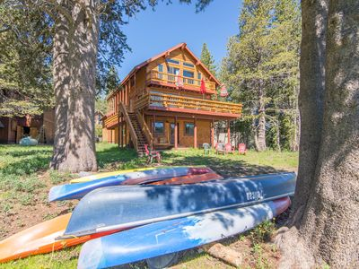 """Photo for """"Kayak Lodge"""" Serene Lakes Lakefront Luxury Living with  Spectacular  VIEWS!"""
