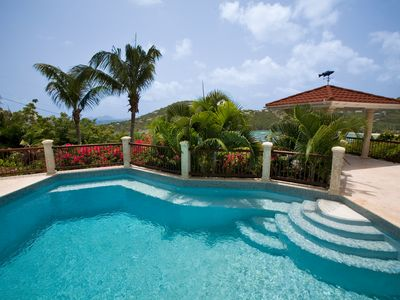 Photo for Villa Bijou - Tranquil 3 BR, A/C throughout,  Pool ,overlooking Great Cruz Bay