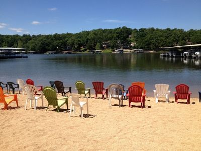 Sandy Beach at the Ledges.. The beach chairs are waiting for you!  2 Pools also!