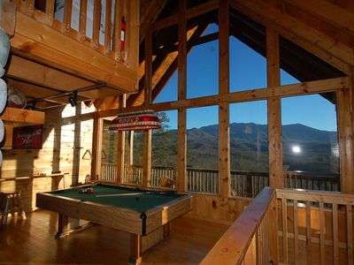 Photo for Well-appointed Cabin w/ Big Mountain Views! Hot Tub, Gameroom,  Private & quiet
