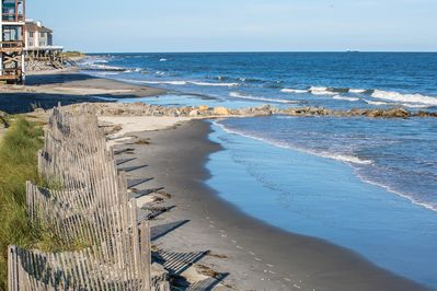 Location  - The coastline is just steps away from your rental.
