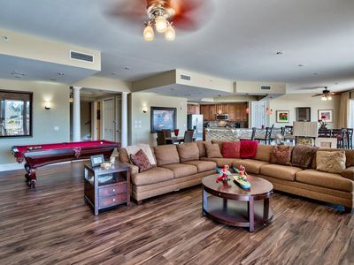 Photo for Luxury 2 Story Condo, Largest Unit at 4000 sq ft, poolside, private beach access