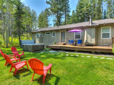 Photo for Tahoe Pines Solitude: Private Yard, HOA Pier, Hot Tub - Pet Friendly