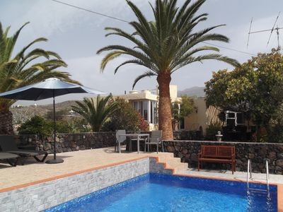Photo for Own property with newly renovated pool solar-heated, panoramic views, W-Lan