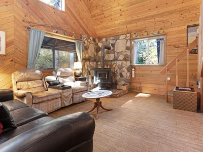 Photo for Updated, dog-friendly cabin in a secluded area - minutes from beach & town!