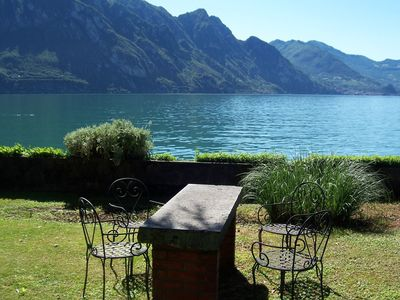 Photo for Beautiful apartment with a view of lake Iseo