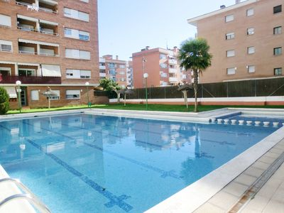 Photo for Apartment with communal pool near the beach Fanals.