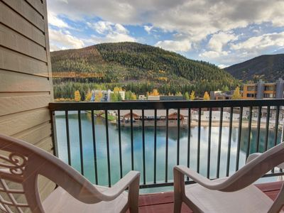 Photo for This is a large studio with full kitchen overlooking the Lake in Lakeside Village Keystone. One of the best perks staying here is you have full access to Keystone's spa with heated outdoor pool, hot tubs, and fitness area.