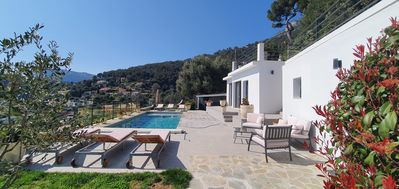 Photo for At the gates of Monaco Magnificent Sea View Villa and Heated Pool