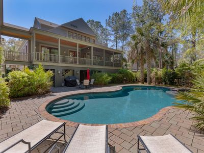 Photo for Spacious Vacation Home! Gorgeous Interior, Private Pool, and Hot Tub