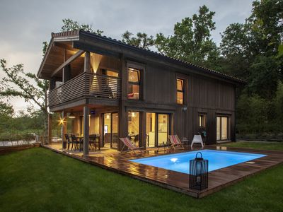 "Photo for ""Lia"": Magnificent bioclimatic architect's house in solid wood with swimming pool"