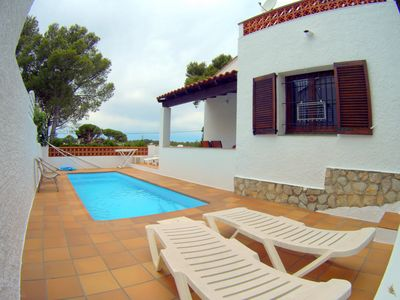 Photo for Villa Lin house with PRIVATE POOL, 3 BEDROOMS, TERRACE, WIFI, CLIMATE
