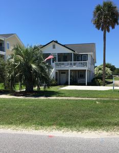 Photo for Directly across dead-end street  from beach access / ocean views all over house!