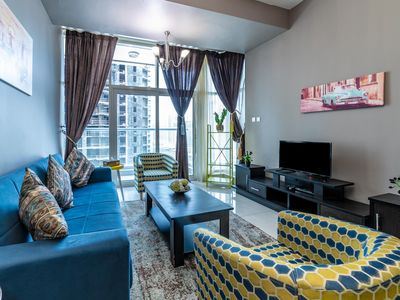 Photo for 1 Bedroom Apartment with corner city view