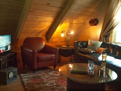 Photo for Valerian Cabin at Lake Lucerne Resort and Ranch Treehouse-Vibe Lakeview