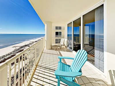 Photo for 17th-Floor Corner Unit w/ Epic Gulf Views – Pools & Hot Tubs, Steps to Beac