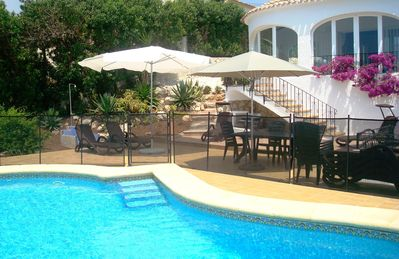 Photo for Peaceful 4 Bed Villa + WOW Sea Views + Private (Fenced) Pool + WIFI/UKTV/AIR-CON