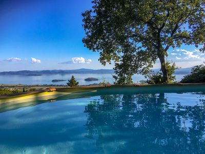 Photo for House with garden and panoramic view over Lake Trasimeno