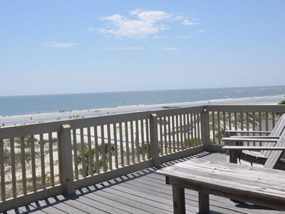 Photo for Ocean front with 40 x 21 foot roof top deck panoramic views of sout beach