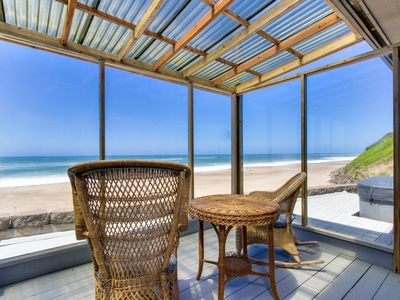 Photo for Modern oceanfront house w/ ocean views - walk to beach!